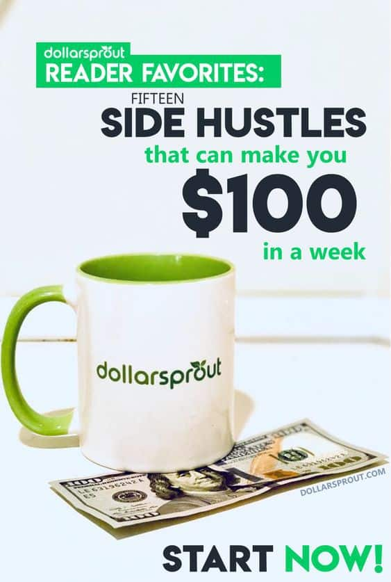 Need side hustle ideas to make money fast? Check out this updated list of the 23 best ways to make money fast today. You can earn upwards of $100, in a day or less, with these proven ways to make extra money submitted by our fans. Get started today! #makemoney #sidehustle #dollarsprout