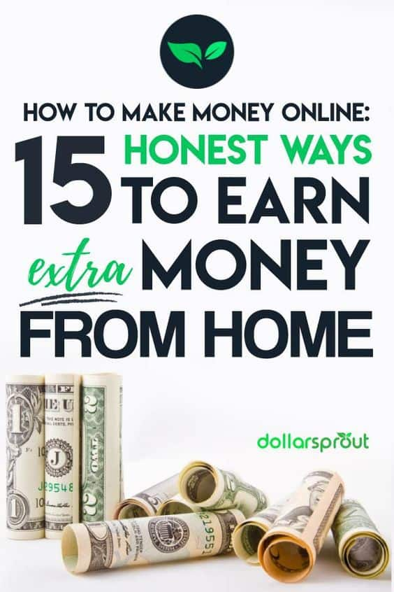 Learn how to make money online and make an extra $50-$1000 each month with this list of 19 legitimate ways you can earn extra money from home. #makemoneyonline