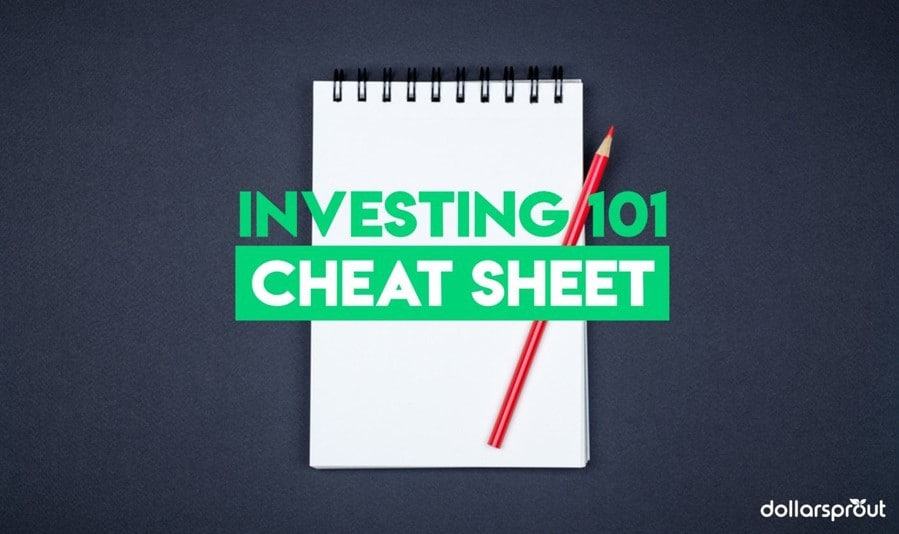 investing 101 cheat sheet with basic investing terms
