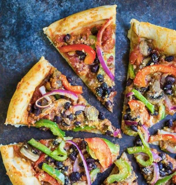 Vegan Fajita Pizza Meals Under 500 calories
