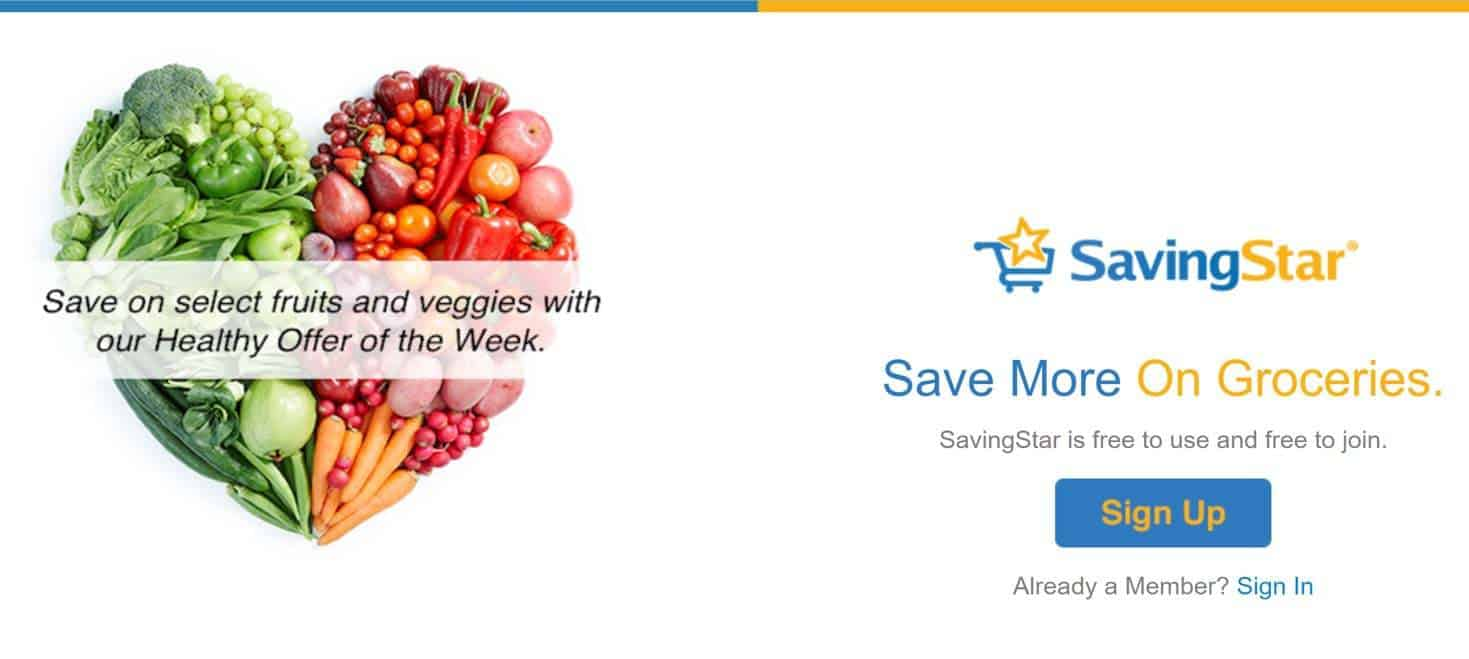 SavingStar is a cash back app for groceries, similar to Ibotta