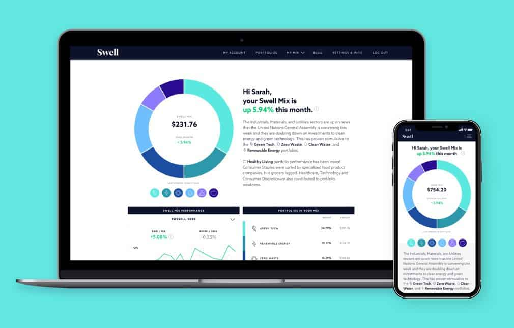 Swell Investing account for socially responsible investing