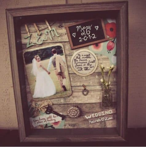 Cute shadow box gift idea for Valentines day for your husband