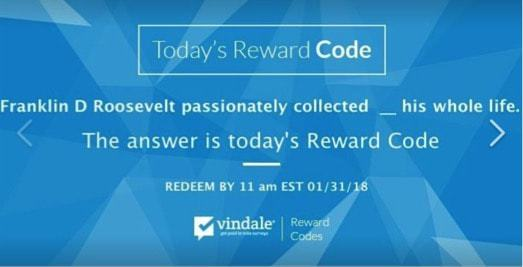 vindale research reward codes